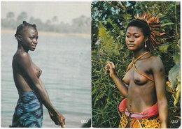 Gf. AFRIQUE EN COULEURS. Jeune Lavandière & Jeune Danseuse. 2 Cartes N° 7369 & 7029 - Cartes Postales