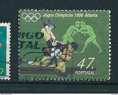 N° 2106  JO  Jeux Olympique D'Atlanta 1996 Lutte    Timbre Portugal 1996 Oblitéré - Oblitérés