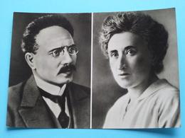Rosa LUXEMBURG (5.3.1871) & Karl LIEBKNECHT (13.8.1871) Anno 19?? ( Zie Foto Voor Details ) ! - Personnages