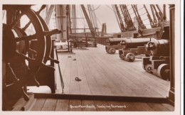 AQ29 Quarterdeck, Looking Forward - H.M.S. Victory, Portsmouth - RPPC - Portsmouth