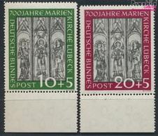 BRD 139-140 (kompl.Ausg.) Geprüft Postfrisch 1951 700 Jahre Marienkirche Lübeck (9316236 - BRD