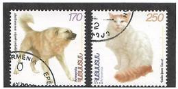 Armenia.1999 Flora & Fauna V. Dog, Cat. 2v: 170, 250 359-60   (oo) - Armenia