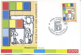 ITALIA - FDC MAXIMUM CARD 2005 - GIORNATA DELLA FILATELIA - ANNULLO SPECIALE - Cartoline Maximum