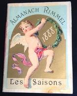 Parfum Rimmel Ravissant Almanach Calendrier 1888 Saisons Sapin NOEL Angelot Enfants Chaix Cheret - Kalenders