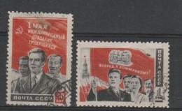 URSS - Usati - 1° Maggio.  Cat. Unificato N.1444/45 - Oblitérés