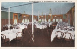 AR28 Dining Room View Of Highland Lake Inn, Highland Lake, N.Y. - NY - New York