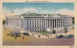 AR28 U.S. Treasury, Washington D.C. - Trams, Cars, Linen - Washington DC