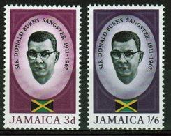 Jamaica Set Of Stamps To Celebrate The Sangster Memorial. - Jamaica (1962-...)