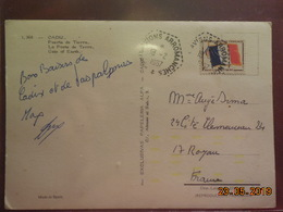 Carte De 1967 à Destination De Royan (cachet Porte Avion Arromanches) - Postmark Collection (Covers)