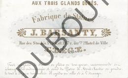 Porseleinkaart - Carte Porcelaine LIEGE J. Barsanty - Fabrique De Statues  9,7 X 5,5 Cm (G147) - Brugge