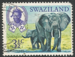 Swaziland. 1968 Animals. 3½c Used. SG 165 - Swaziland (1968-...)