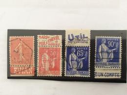 Lot De 4 Timbres  : 199, 283, 365 Et 368 - Publicités