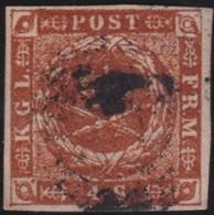 Danmark  .      Yvert   4         .       O     .         Cancelled   .    /   .   Gebruikt - 1851-63 (Frederik VII)