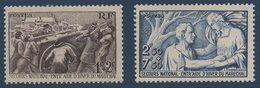"FR 1941 Au Profit Du ""Secours National""  N°YT 497-498 ** MNH - France"