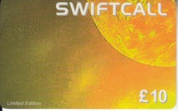 UK - The Sun, Swiftcall Prepaid Card 10 Pounds, Used - Spazio