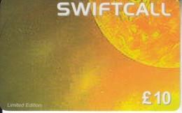 UK - The Sun, Swiftcall Prepaid Card 10 Pounds, Used - Espacio