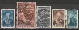 URSS - Usati - 150° Ann. Morte Di Suworov  Cat. Unificato N.1450/54 - Oblitérés