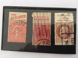 Lot De 3 Timbres : 199, 272 Et 517 - Publicités