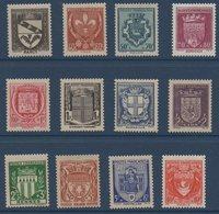 FR 1941 Armoiries De Villes (1ère Série)   N°YT  526-537 ** MNH - France