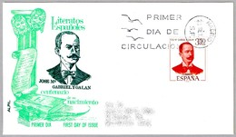Centenario Del Nacimiento De GABRIEL Y GALAN. SPD/FDC Madrid 1970 - Escritores