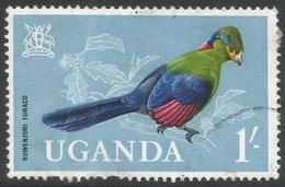 Uganda. 1965 Birds. 1/- Used. SG 121 - Uganda (1962-...)