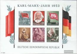 DDR  Con Fold 1953 Charles-Marx-Anno - Blocks & Sheetlets