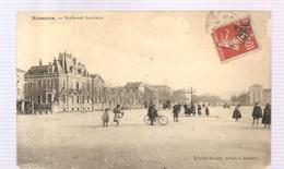 CPA Romans (26) Boulevard Gambetta (animée) Ecrite En 1908? - Romans Sur Isere