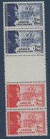 """FR 1942  """"Pour La Légion Tricolore""""   N°YT  566b ** MNH   = La Bande Complète 566-566 Avec Intervalle En Relief - France"""