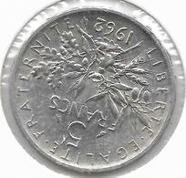FRANCIA 1962 Moneta D'argento 5 Franchi, FDC - Francia