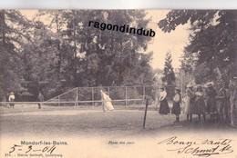 CPA - LUXEMBOURG - MONDORF-LES-BAINS - PLACE DES JEUX Voy En 1904 Edit BERNHOEFT SANS N°  - Bel état - Mondorf-les-Bains