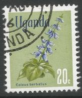 Uganda. 1969 Flowers. 20c Used. SG 134 - Uganda (1962-...)