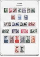 TUNISIE  - 1956/1979 - COLLECTION SUR 54 FEUILLES D'ALBUM + 2 PLAQUETTES * MHL COMPLETE SAUF BLOC N°16 - COTE = 910 EUR. - Tunisie (1956-...)