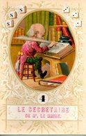 Carte De Jeu N° 4 : Le Secrétaire De M Le Maire - Old Paper