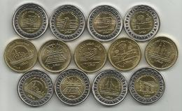 Egypt 13 Different Circulating Commemorative Coins 2019. High Grade - Egypt