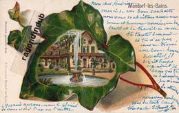 CPA - LUXEMBOURG - MONDORF-LES-BAINS - ENTREE Du PARC CARTE GAUFFREE FANTAISIE FEUILLE DE LIERE - 1905 - Mondorf-les-Bains