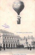 Souvenir De Liège - Montgolfière. Ballon. Le Théatre Et La Staue Gretry. M. Marcovici - Liege