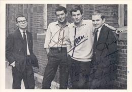 Signature Handtekening Autographe Original Muziekgroep The Cousins Groupe Musique Twist Rock - Autographes