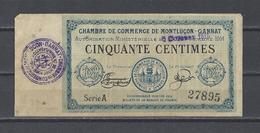 Chambre De Commerce De MONTLUCON  Billet De 50c - Cámara De Comercio