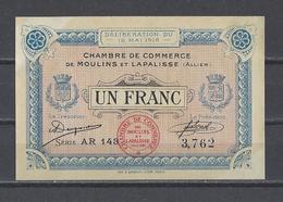 Chambre De Commerce De MOULINS Et LAPALISSE  Billet De 1.00F - Chambre De Commerce