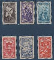 FR 1943  Coiffes Régionales    N°YT  593-598 ** MNH - France