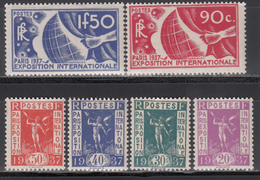 1936 Yvert Nº 322 / 327  MNH - Francia