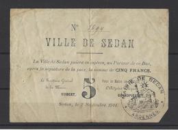 Bon Nécessité Ville De SEDAN  5.00F - Bons & Nécessité