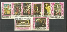 PARAGUAY PAITING MICHEL 1691/8 COMP. SET,  IMPERFORATED, MNH - Paraguay