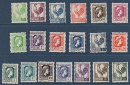FR 1944    Série D'Alger : Coq Et Marianne  N°YT  630-648 ** MNH - France