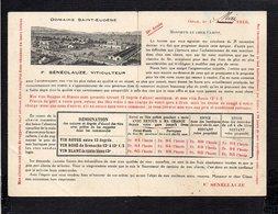 Algérie  / Carte Publicitaire Oran / F. Sénéclauze Domaine St Eugène Viticulteur 1916 / Nomade Et Rabbin Istraélite - Oran