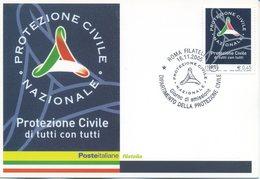 ITALIA - FDC MAXIMUM CARD 2005 - PROTEZIONE CIVILE - ANNULLO SPECIALE - Cartoline Maximum