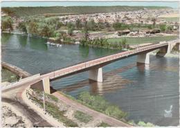 CPSM   En Avion Au Dessus De....BONNIERES 78  Le Pont - Bonnieres Sur Seine