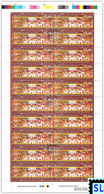 Sri Lanka Stamps 2019, State Vesak, Buddha, Buddhism, Elephants, Elephant, Arts, Painting, Sheetlet - Sri Lanka (Ceylon) (1948-...)