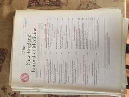 THE NEW ENGLAND JOURNAL OF MEDICINE - Livres, BD, Revues