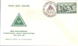 INDIA CALCUTTA 1959 LABOUR ORGANISATION  COVER  (MAGG19118) - FDC
